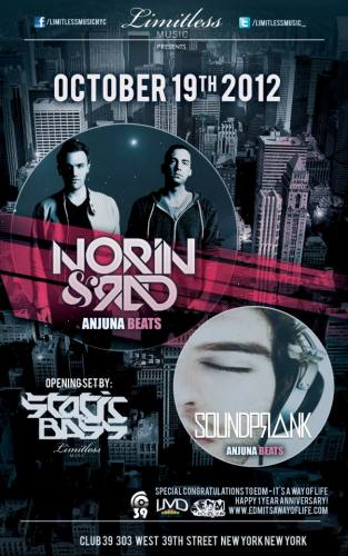 Limitless Music presents Norin & Rad, Soundprank, & opening set by Static & Bass