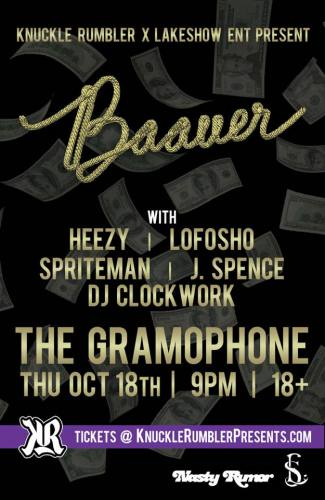 Baauer at The Gramophone