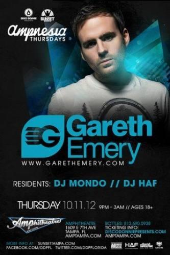 Gareth Emery @ Amphitheatre Event Facility