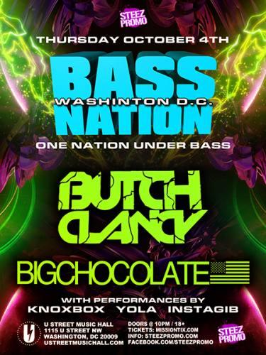 Butch Clancy & Big Chocolate @ U Street Music Hall