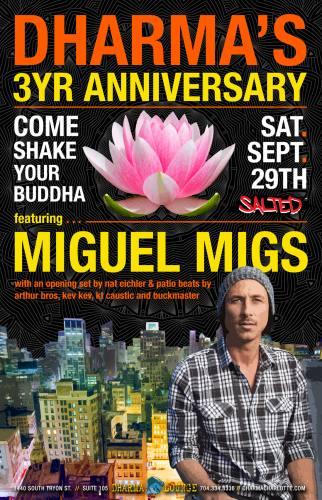 Miguel Migs @ Dharma Lounge