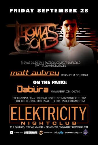 Thomas Gold @ Elektricity