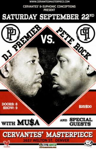 DJ Premier  VS. Pete Rock @ Cervantes