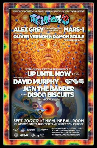 RE:CREATION: Alex Grey & Mars-1 with Barber of The Disco Biscuits + Murph of STS9 with Up Until Now