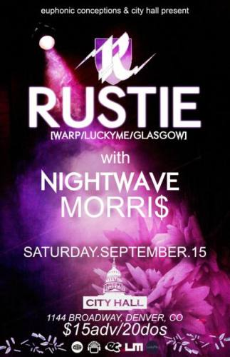 Rustie with Nightwave, MORRI$ & Psymbionic @ City Hall (Denver, CO)