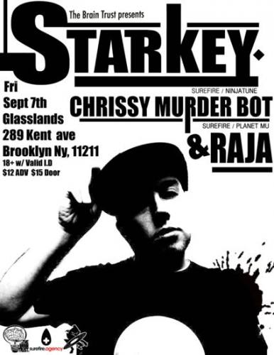 The Brain Trust Presents: Starkey with Chrissy Murderbot @ Brooklyn
