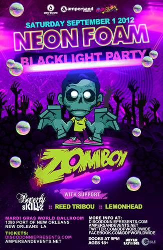 Zomboy @ Mardi Gras World (Neon Blacklight Party)