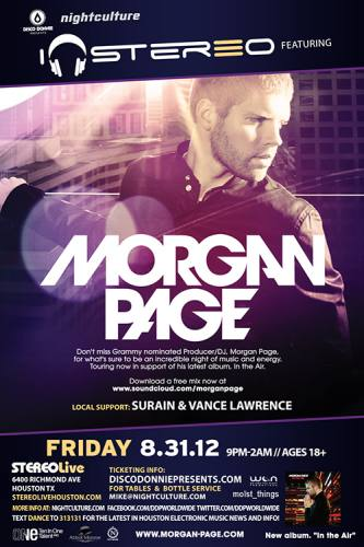 Morgan Page @ Stereo Live (8/31/12)