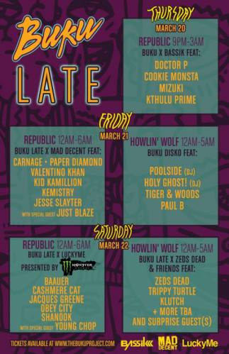 Baauer, Cashmere Cat, & more @ Republic New Orleans