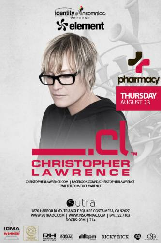 Christopher Lawrence @ Sutra (08-23-2012)