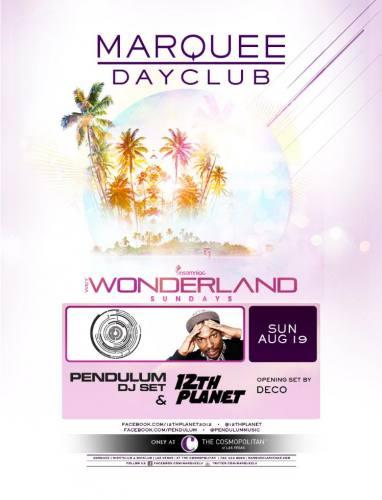 Pendulum & 12th Planet @ Marquee Dayclub