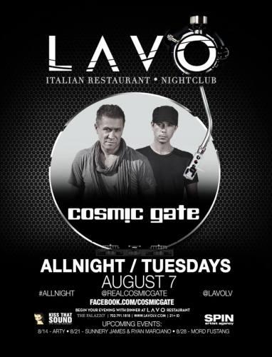 Cosmic Gate @ LAVO - Las Vegas (8/7/12)