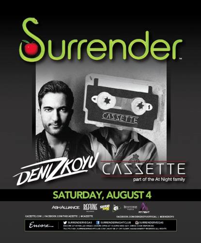 CAZZETTE & Deniz Koyu @ Surrender Nightclub