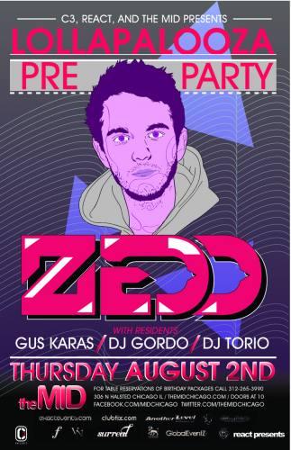 Lollapalooza Preparty w/ Zedd