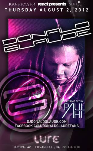 Donald Glaude @ LURE - Hollywood