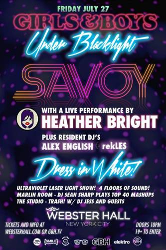 Savoy @ Webster Hall (7/27/12)