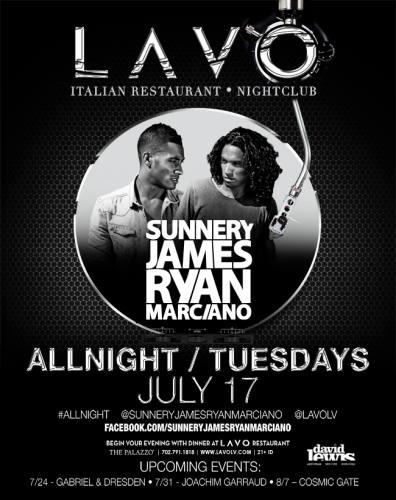 Sunnery James & Ryan Marciano @ LAVO - Las Vegas