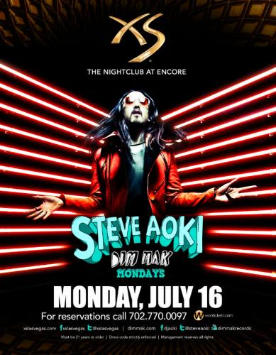 Steve Aoki @ XS - Las Vegas (7/16/12)