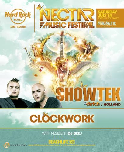Showtek + Clockwork @ Paradise Beach