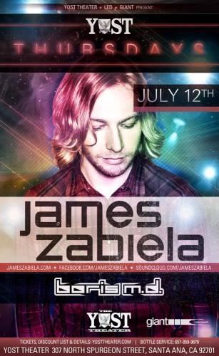 james Zabiela @ The Yost Theater