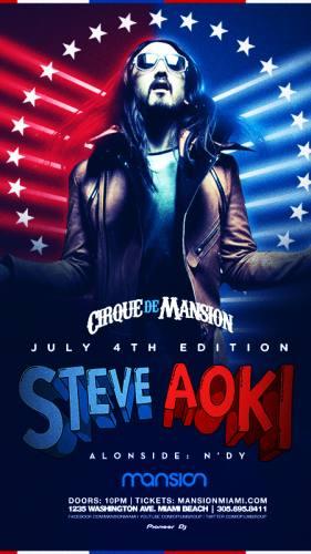 Steve Aoki @ Mansion (7/4/12)