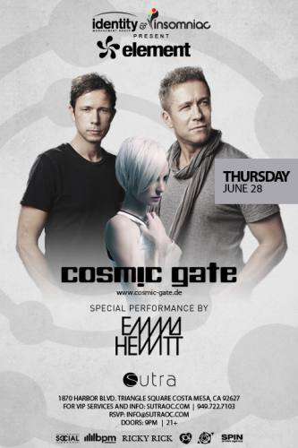 Cosmic Gate ft Emma Hewitt @ Sutra