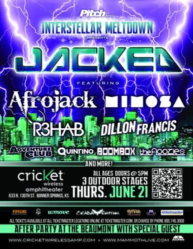 Interstellar Meltdown Presents: Jacked! Featuring Afrojack (Kansas)