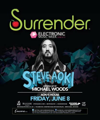 Steve Aoki & Michael Woods @ Surrender