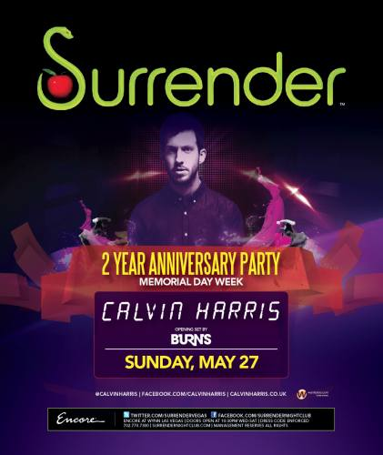 Calvin Harris @ Surrender (5/27/12)