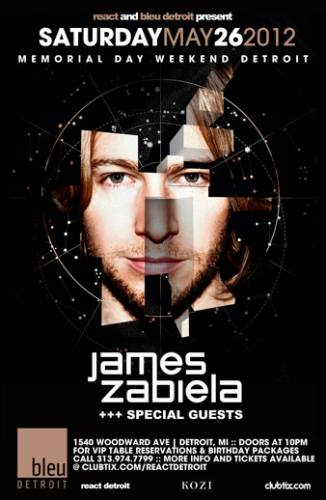 5.26 James Zabiela & Guest – Bleu Detroit