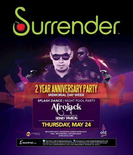 Afrojack @ Surrender (5/24/12)