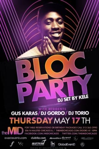 5.17 KELE OF BLOC PARTY @ THE MID – FREE W/ RSVP