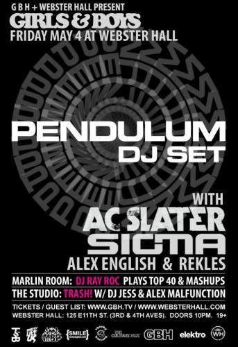 Pendulum (DJ), AC Slater, and Sigma @ Webster Hall