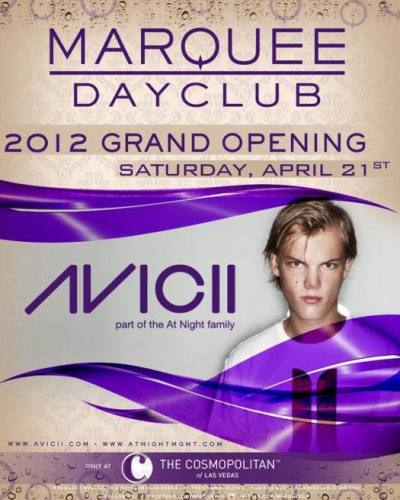 Avicii @ Marquee Dayclub (4/21/12)