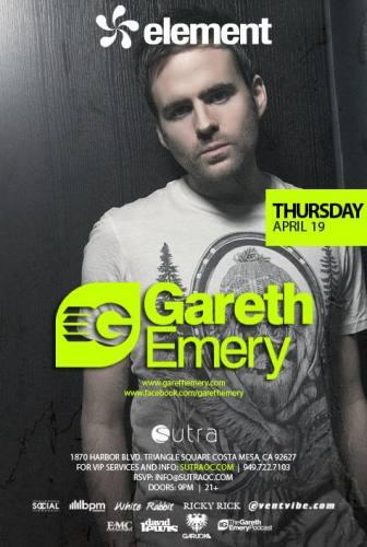 Gareth Emery @ Sutra (4/19/12)