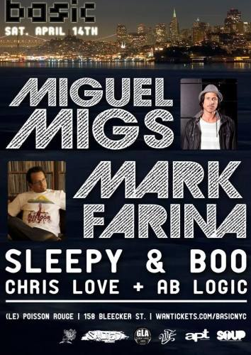Mark Farina & Miguel Migs @ Le Poisson Rouge