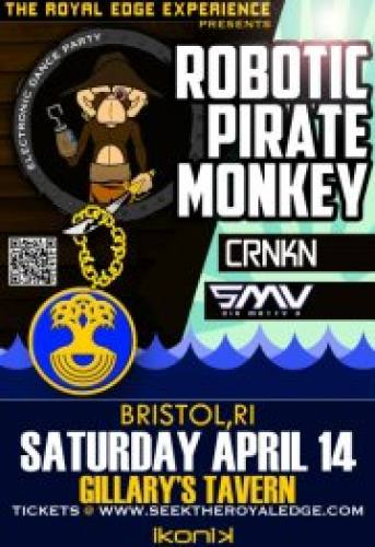 Robotic Pirate Monkey w/ CRNKN + Sir Matty V
