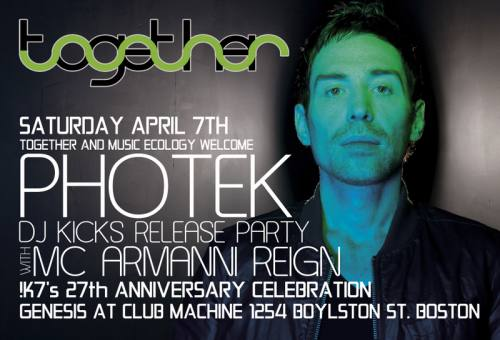 Together & Music Ecology Present: Photek & MC Armanni Reign at Genesis