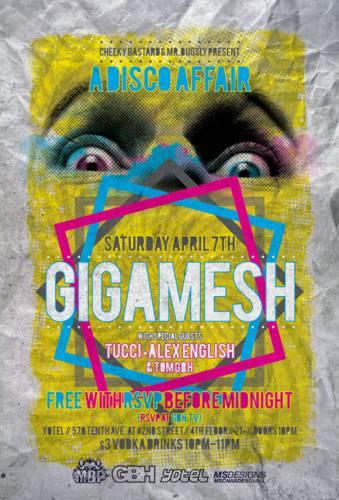 A FREE Disco Affair w/ Gigamesh & Tucci @ Yotel [4.7.12]