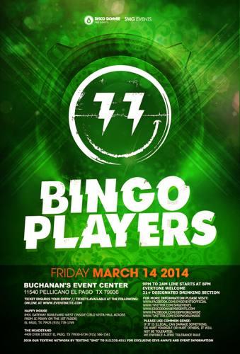 Bingo Players @ Buchanan's (03-14-2014)