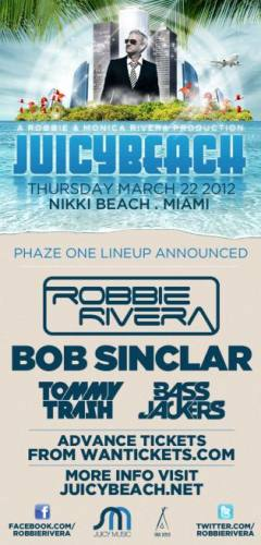 Robbie Rivera presents Juicy Beach 2012