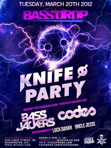 BASSDROP DC FT KNIFE PARTY, BASSJACKERS, & CODES