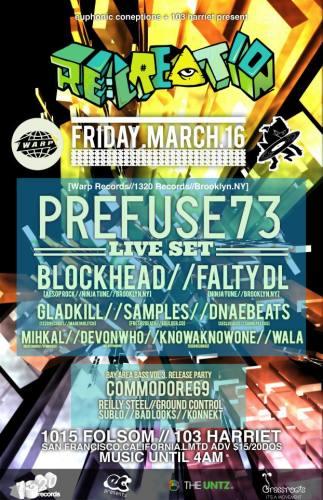 RE:CREATION: Prefuse 73 & Blockhead (San Francisco, CA)