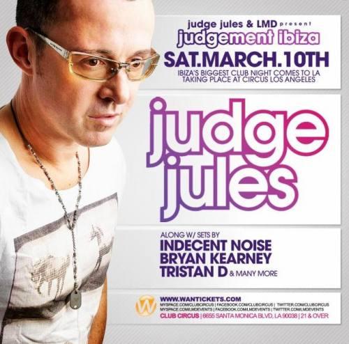 Judge Jules @ Circus Disco