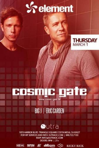 Cosmic Gate @ Sutra (3/1/12)