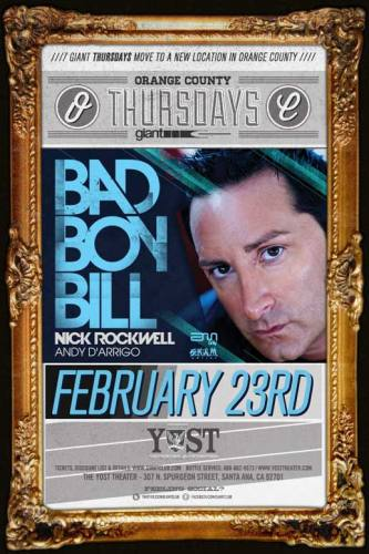 Bad Boy Bill @ Yost Theater