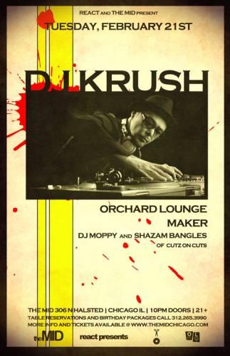 DJ KRUSH - ORCHARD LOUNGE - MAKER