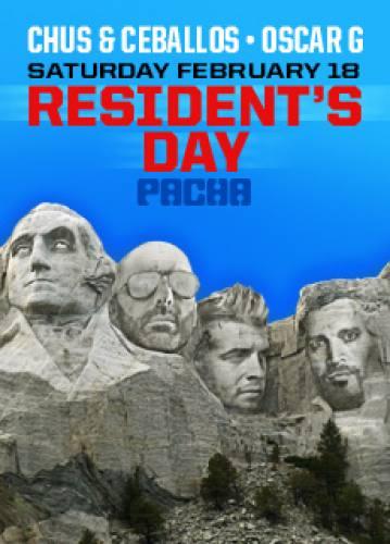 Resident's Day w/ Chus & Ceballos + Oscar G @ Pacha NYC