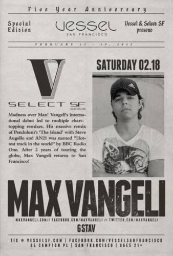 Max Vangeli @ Vessel