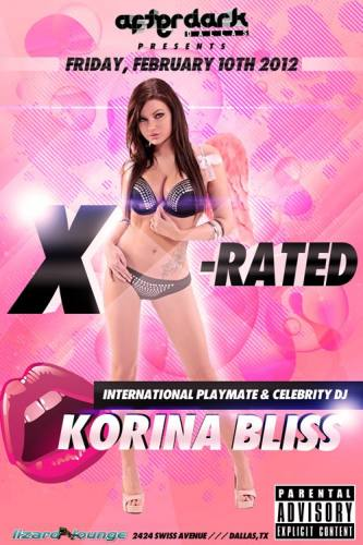 Afterdark Dallas Ent presents X-Rated w/ KORINA BLISS at Lizard Lounge